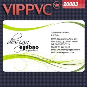 20083 Free Design Business cards PVC Card Matte