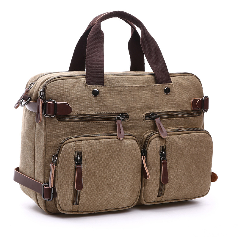 Vintage Canvas Men Handbags Briefcase Bolso Hombre Casual Male Messenger Bag Laptop Bags Travel Crossbody Shoulder Bag Totes