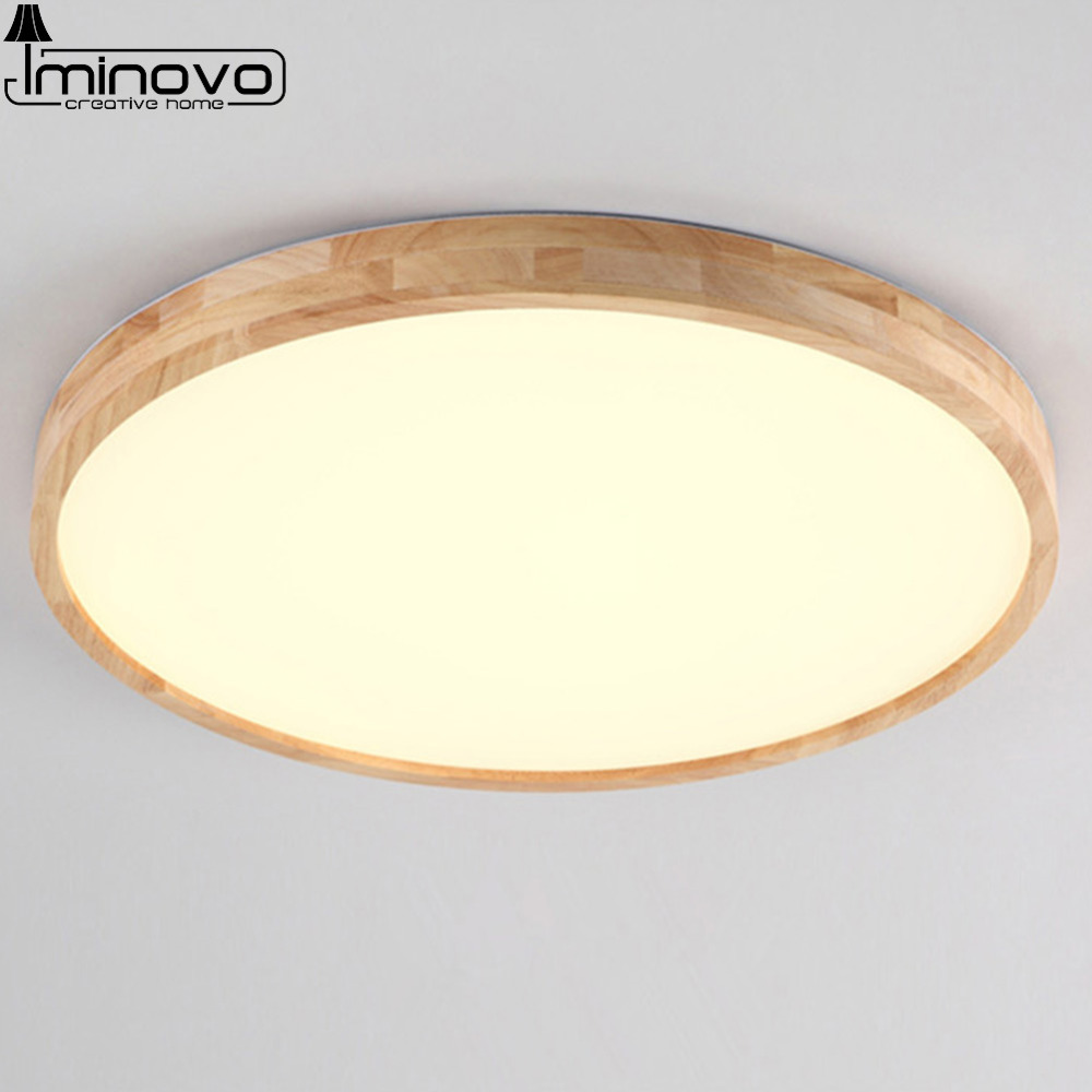 LED Ceiling Light Modern Wooden Panel Lamp Round Lighting Fixture Living Room Hall Surface Mount Flush Bedroom Remote Control black and white round lamp modern led light remote control dimmer ceiling lighting home fixtures