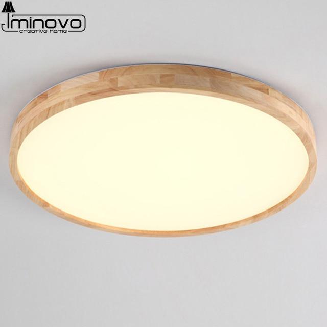 round light fixture suspended led ceiling light modern wooden panel lamp round lighting fixture living room hall surface mount flush