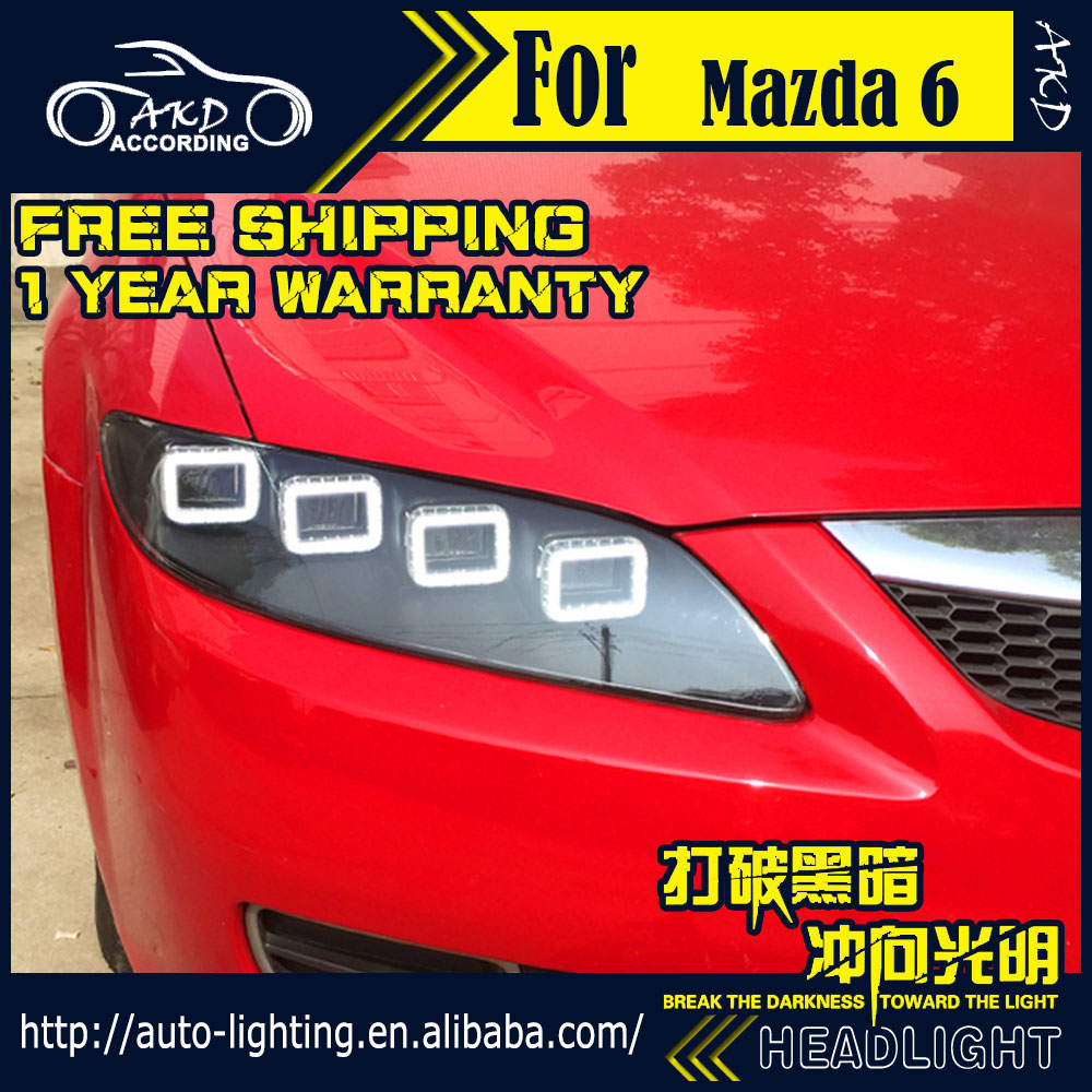 AKD Car Styling for Mazda 6 Headlight 2014 Mazda6 Full LED Light Source Headlight LED DRL