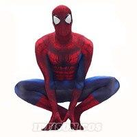 The Amazing Spider Man 2 Adult / Teen Costume Marvel Superhero Zentai Suit Disguise Custom Made Spiderman Cosplay Costume S XXL