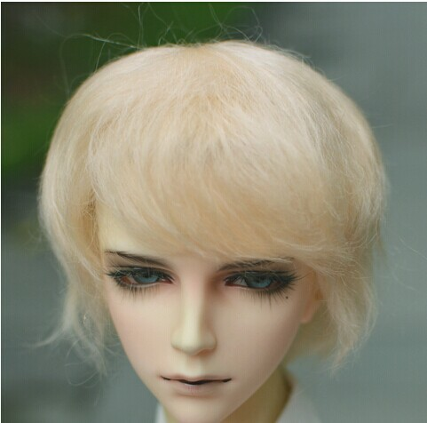 1/3 SD  mohair doll wigs Lati red Boy short cut  wig  8-9 inch Jerryberry doll accessories Resin doll accessories Toy hairs
