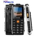 Uhans v5 prueba de choques impermeable dual sim gsm del teléfono móvil 2500 mah banco de la energía del teléfono grande caja de altavoz fm linterna led móvil teléfono