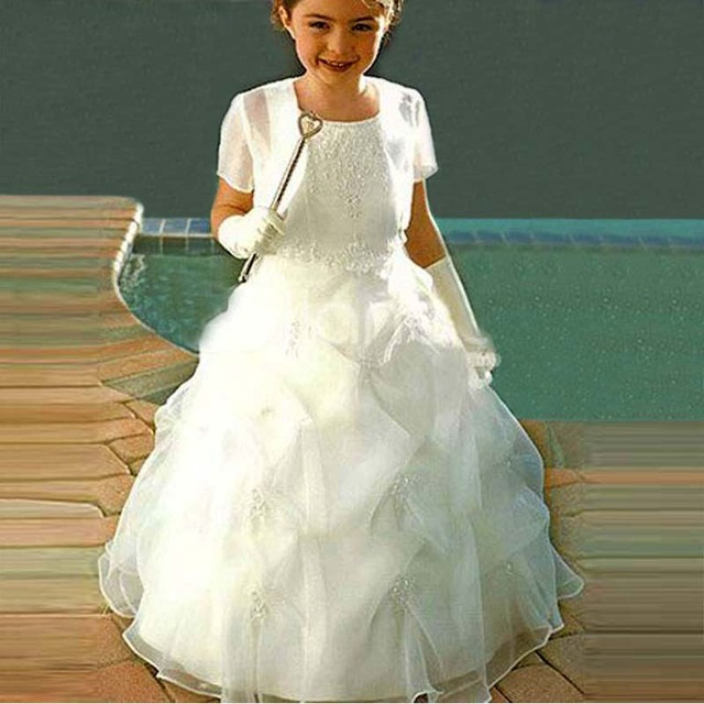 004bed481ba3 Fancy Dress For Girls Perfect Angel Lace Up Kids Pageant Gowns ...