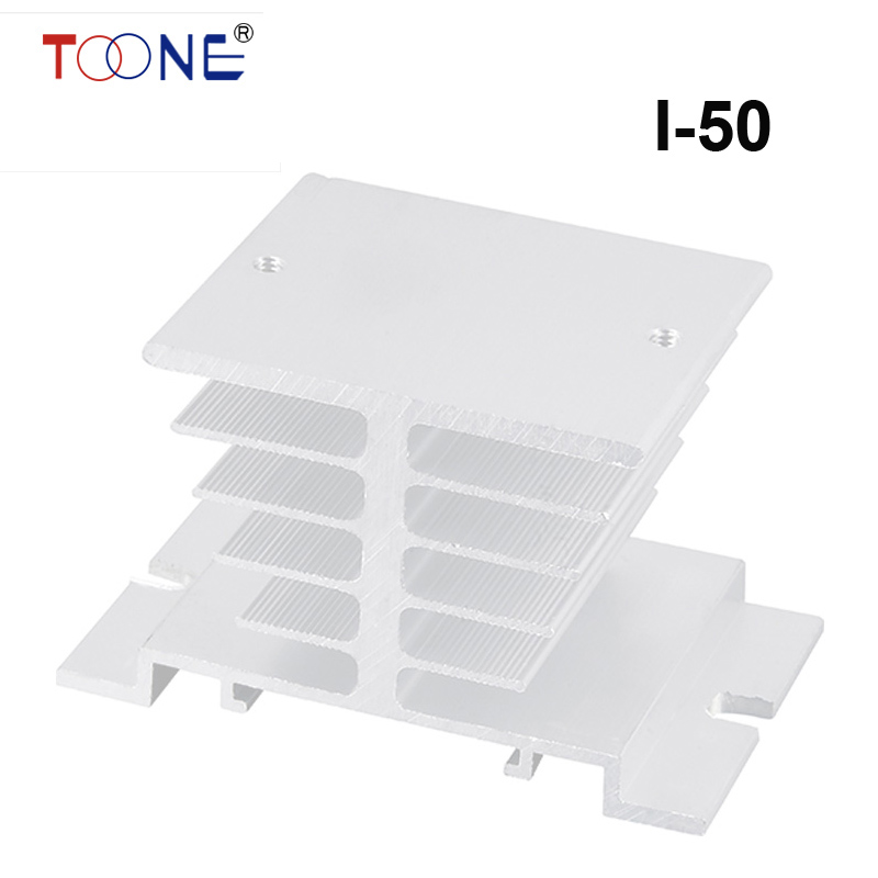 Подробнее о Solid state radiator I-50, ssr single-phase solid state relay, 50X50X80mm Aluminum Heat Sink for 10A free shipping compact relay socket solid state heat radiator heatsink