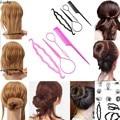 4 in 1 Set Hair Styling Set Clip Bun Maker Braid Hair Twist Stick Ponytail Tool Hair Accessory Plastic Accessories Lady Girls