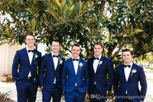 Latest Coat Pant Design Navy Blue Wedding Suits Slim Fit Skinny Best Men Suit Tuxedo Custom Groom 2 Piece Blazer Terno Masculino