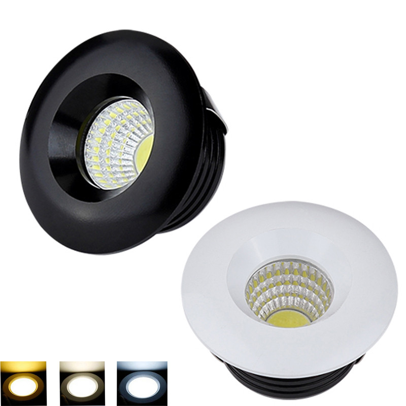 Dimmable Led Downlight Light COB Ceiling Spot Light 3w  85-265V Ceiling Recessed Lights Indoor Lighting