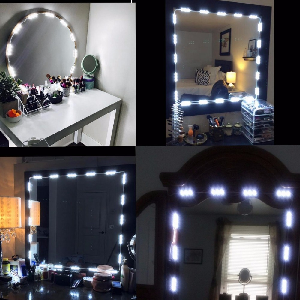 Makeup Vanity Mirror Lights Dimmable 60 LEDs 9.8FT DIY LED ...