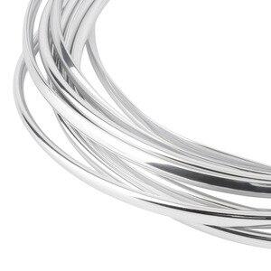 Image 3 - Più Nuovo 4 M di Figura di U Auto Fai da Te Styling Interni Presa Daria Griglia Interruttore Rim Trim Presa di Decorazione Striscia di Stampaggio chrome Argento a Caldo