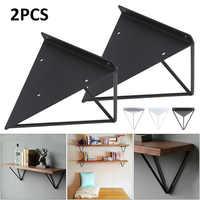 2 uds. De plata/negro/blanco estante de montaje en pared soporte Triangular de Metal soporte de liberación Industrial soporte de mesa de Banco soporte de estante