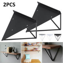 2Pcs Sliver/Black/White Wall Mount Shelf Triangular Bracket Metal Industrial Release Support Bench Table Shelf Bracket