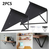 2Pcs Sliver/Black/White Wall Mount Shelf Triangular Bracket Metal Industrial Release Support Bench Table Shelf Bracket