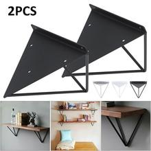 2Pcs רסיס/שחור/לבן קיר הר מדף סוגר משולש מתכת תעשייתית שחרור תמיכה ספסל שולחן מדף סוגר