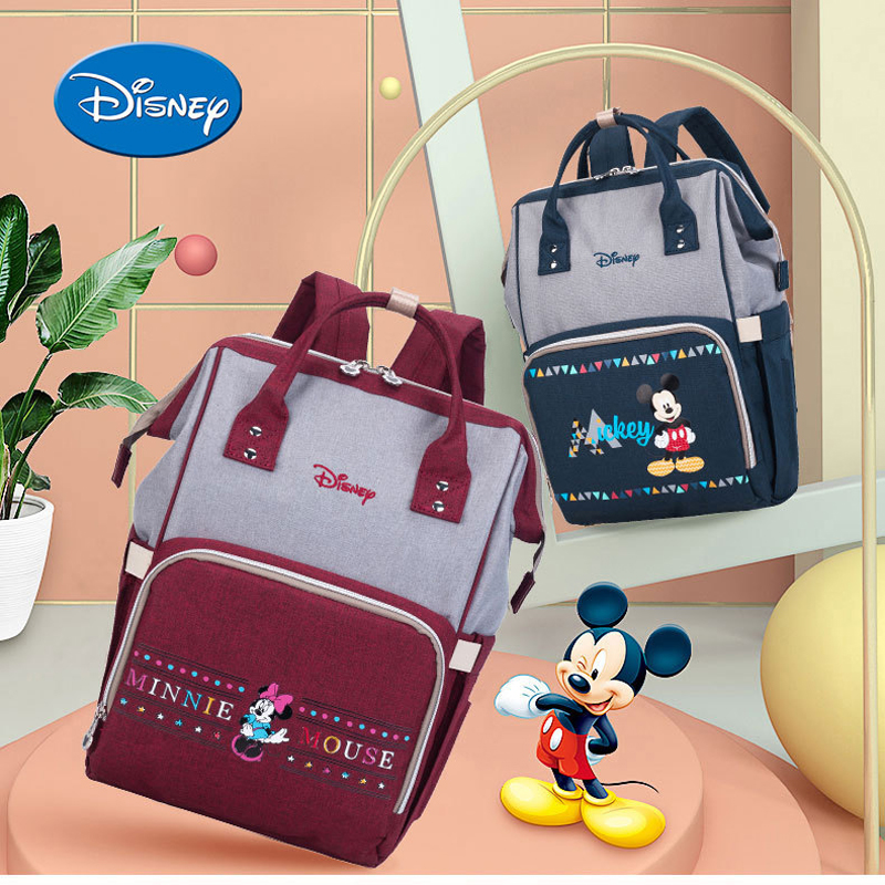Disney Minnie Mickey Travel Diaper Bags Backpack Large Capacity For Mummy Mom Maternity Oxford Womens Bag Nappy Baby CareDisney Minnie Mickey Travel Diaper Bags Backpack Large Capacity For Mummy Mom Maternity Oxford Womens Bag Nappy Baby Care