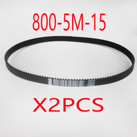 2pcs 800 5M 15 160Teeth Electric Bike E Bike Scooter Drive Belt Replacement Electric Scooter Parts