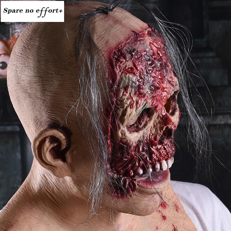 Sanglante Cosplay Masque Halloween Masque Parti Masque Adulte Effrayant Horreur Costume déguisement Effrayant Masque Halloween