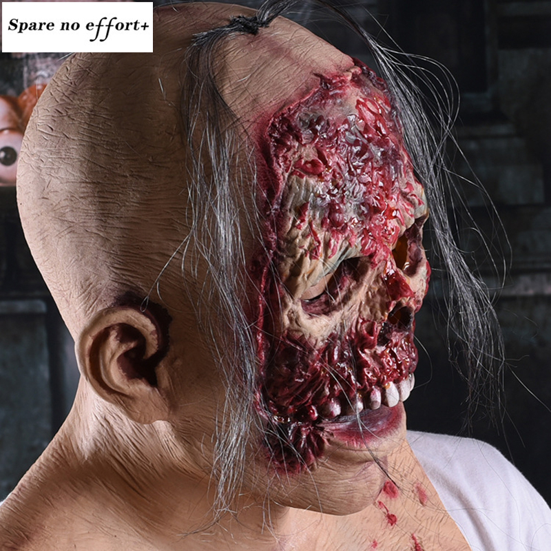 bloody Cosplay Mask Halloween Mask Party Mask Adult Scary Horror Costume Fancy Dress Scary Mask Halloween