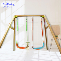 Gladswing Leaf Hanging Swing Children Indoor/Outdoor Adjustable Hanging Hammock Chair Seat Kids Camping Toy (W0