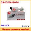 Бесплатная Доставка Hikvision Пуля Ip-камера POE 4mp DS-2CD2042WD-I H.265 WDR Камеры Видеонаблюдения IP Onvif
