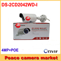Free Shipping Hikvision Bullet IP Camera POE 4mp DS-2CD2042WD-I WDR H.265 Security CCTV Camera IP Onvif