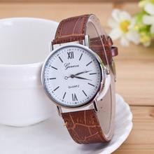 New Geneva Brand Fashion Quartz Watches Leather Sports Men Watch Casual Dress Wristwatches relogio masculino Clock saat