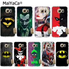 Marvel Comics Batman Joker Harley Quinn MaiYaCa Coque Caixa Do Telefone para Samsung Galaxy Note9 S9 Plus S5 S7 Borda S8Plus s6 Borda Mais(China)