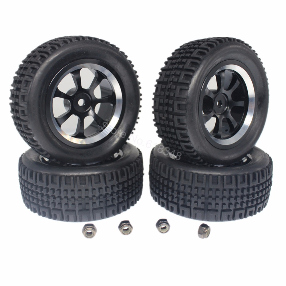 4Pcs/Lot 76mm RC Rally Racing Tires & 7 Spokes Aluminum Wheels Sets with Foam Inserts 12mm Hex Hub Width:30mm For 1/10 Model Car racing wheels h 480 7 0 r16 4x114 3 et40 0 d67 1