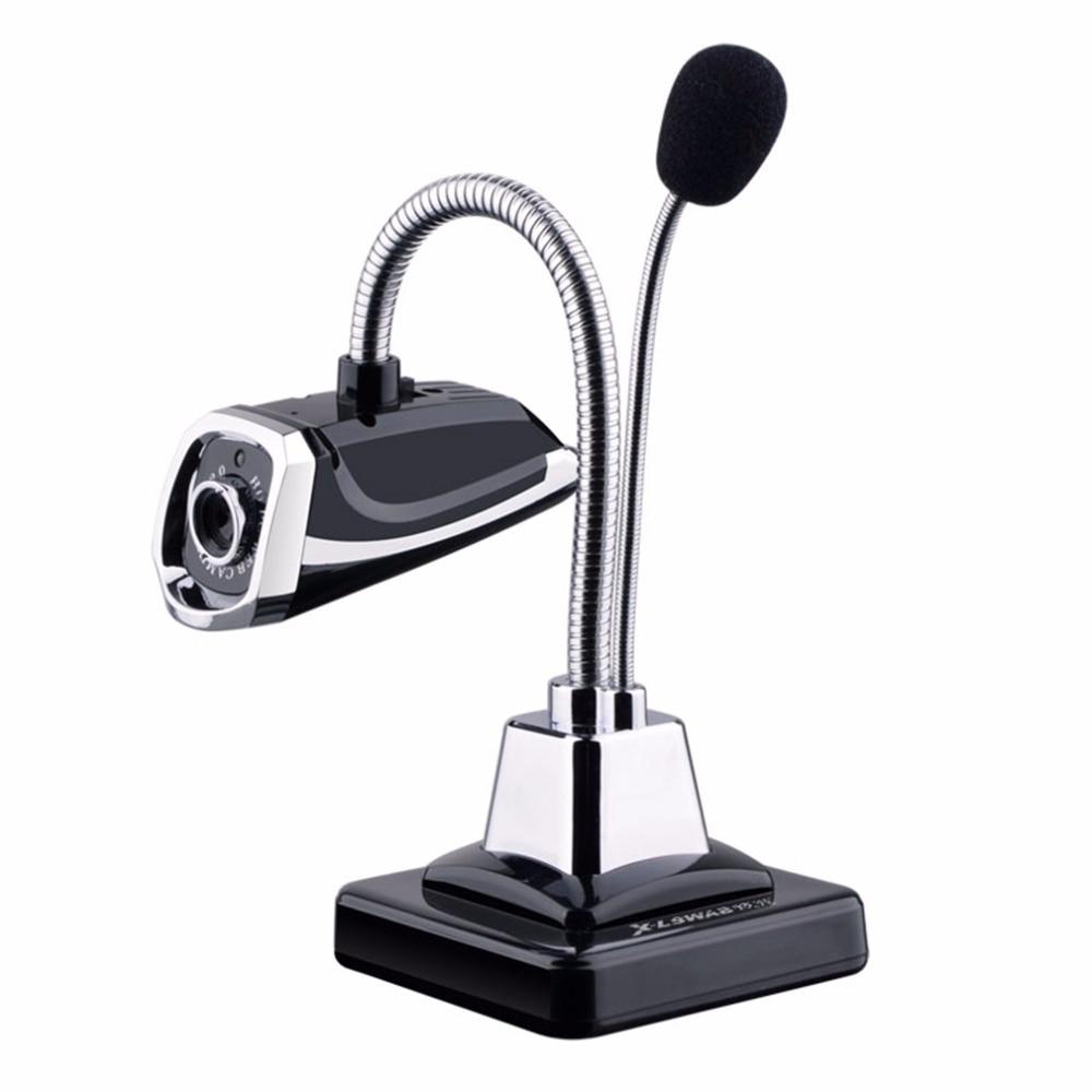 X-LSWAB M800 USB 2.0 Filaire Webcams PC Portable 12 Millions Pixel Vidéo Caméra Réglable Angle HD LED Night Vision Avec microphone