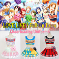 LoveLive school idol project Festival Cheerleaders Uniforms Umi/ Eli/ Hanayo/Nico/Rin Cosplay costume Lolita customized Costume