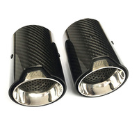 2PCS Car Real Carbon Fiber Exhaust tip For BMW 1234 M Performance exhaust pipe upgrade M3 F80 M4 F82 F83 M5 F10 M6 F12