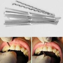 12 шт.(ширина 4 мм) Стоматологическая металлическая Полировочная полоска с одной стороны алмазной шлифовальной поверхности
