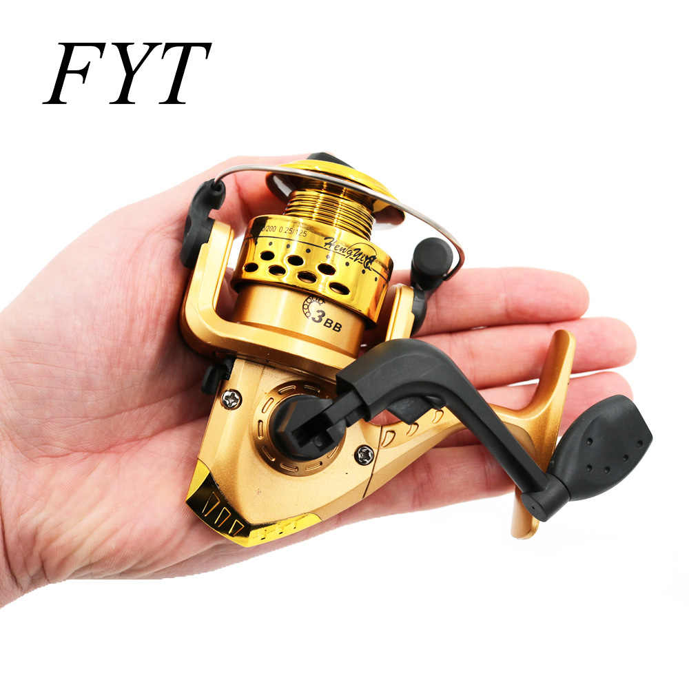 Fishing Reals Aluminum Body Spinning Reel High Speed G-Ratio 5.2:1 Fishing Reels with Line Copper rod rack drive Fish Tools HY01