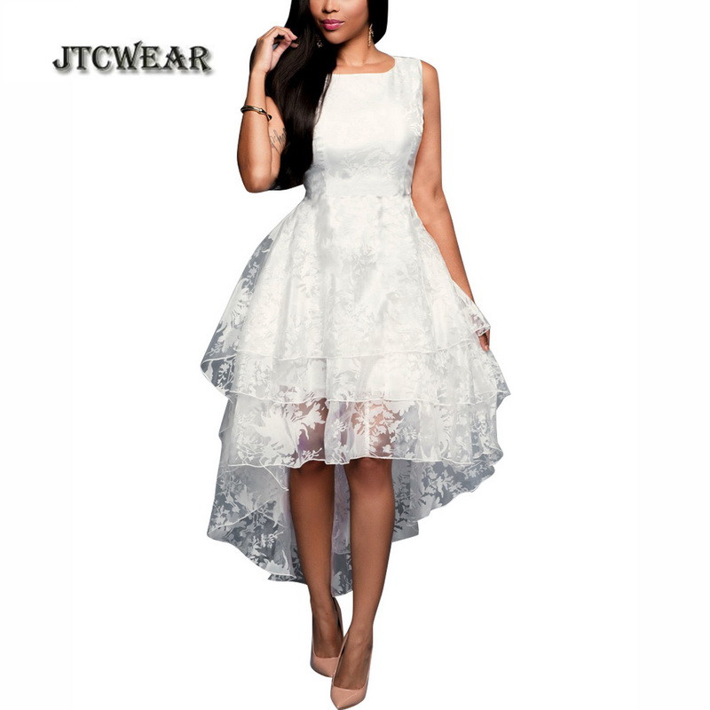 JTCWEAR 3 Layers White Sleeveless Organza Tunic Flared Prom Party Club Special Occasion Woman Swing Dress