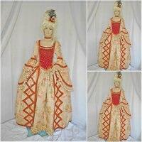 Новый коричневый Винтаж костюмы викторианской платья 1860 S Гражданская война Southern Belle Платье Мария Антуанетта платья US4 36 C 688