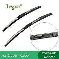 1 Set Wiper Blades For Citroen C3 XR 2003 2005 16 26 Car Wiper 3 Section