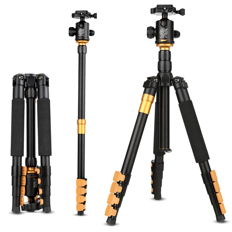 Newest Q570A Professional Travel Portable Folding Camera Tripod with Ball Head for SLR Camera triopo nb 1s professional camera ball head