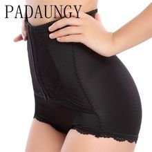 PADAUNGY Tummy Control High Waist Panties Body Shaper Slimming Briefs Butt Lifter Waist Trainer Underwear Sexy Shapewear Black