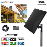 SATXTREM antenna indoor 318A channels search channel scan 860MHZ Directional HDTV Antenna With 32.8ft Coax Cable For FM/VHF/UHF