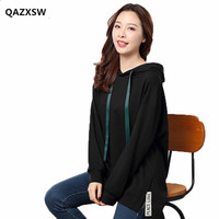 2019 New Women Sweatshirts Large Size Female Spring Korean BF Style Tide Loose Thin Large Size Hooded Sweatshirt Women SY062