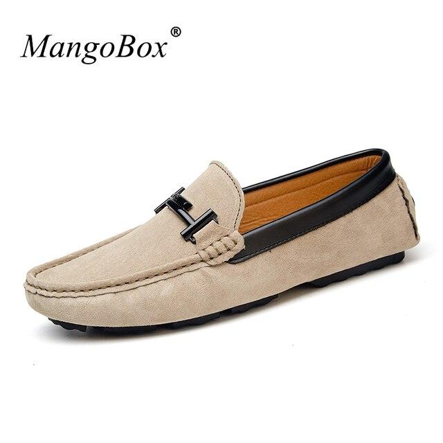 0bd7182871d17 US $51.81 |MangoBox Men's Footwear Casual 2017 New Luxury Brand Designer  Loafer Shoes Mens Black Leather Men Casual Shoes-in Men's Casual Shoes from  ...