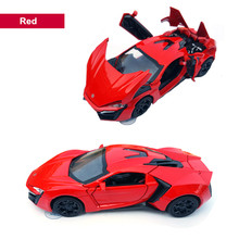 1/32 Scale Alloy Lykan Hypersport Fast and Furious Electronic Diecast Cars Toys Collectible Model