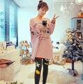 Spring Autumn Women Cotton Pyjama Set Plus Size Pajama Set  Long Sleeve Night Wear Cute Character Pijama Set Fashion Sleepwear