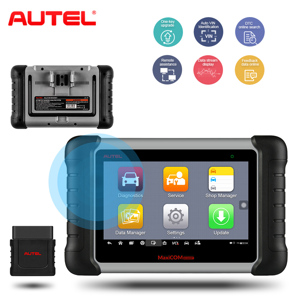 Scanner automatique de voiture d'outil de Diagnostic de Scanner automatique d'autel MK808BT OBD2 pour le scanner de Diagnostic de voiture de Renault Opel Volvo BMW VW SAAB obdii obd ii