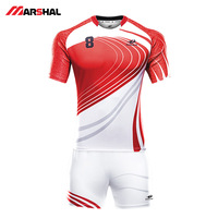 2018 latest new design full sublimation customization fashion ideas rugby jersey by your own