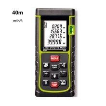Buy Digital Laser Distance Meter 40M 50M 60M 70M 80M 100M Laser Rangefinder Data Hold LCD Backlight Diastimeter + Carry Bag Portable
