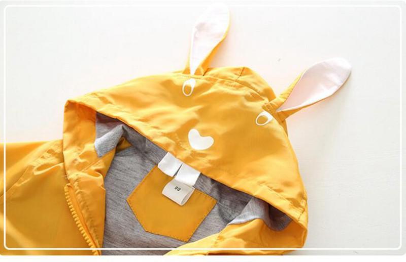 CROAL CHERIE 80-130cm Cute Rabbit Kids Boys Jacket Girls Outerwear & Coats Children Korean Kids Clothes 2018 For Girls Autumn (7)