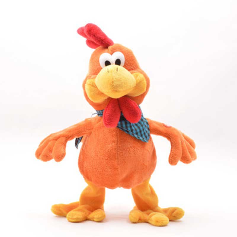 Robot Chicken Interactive Funny Rooster Toys Electronic Chicken Pet With Sound Music Dance Plush Toys For Children Birthday Gift