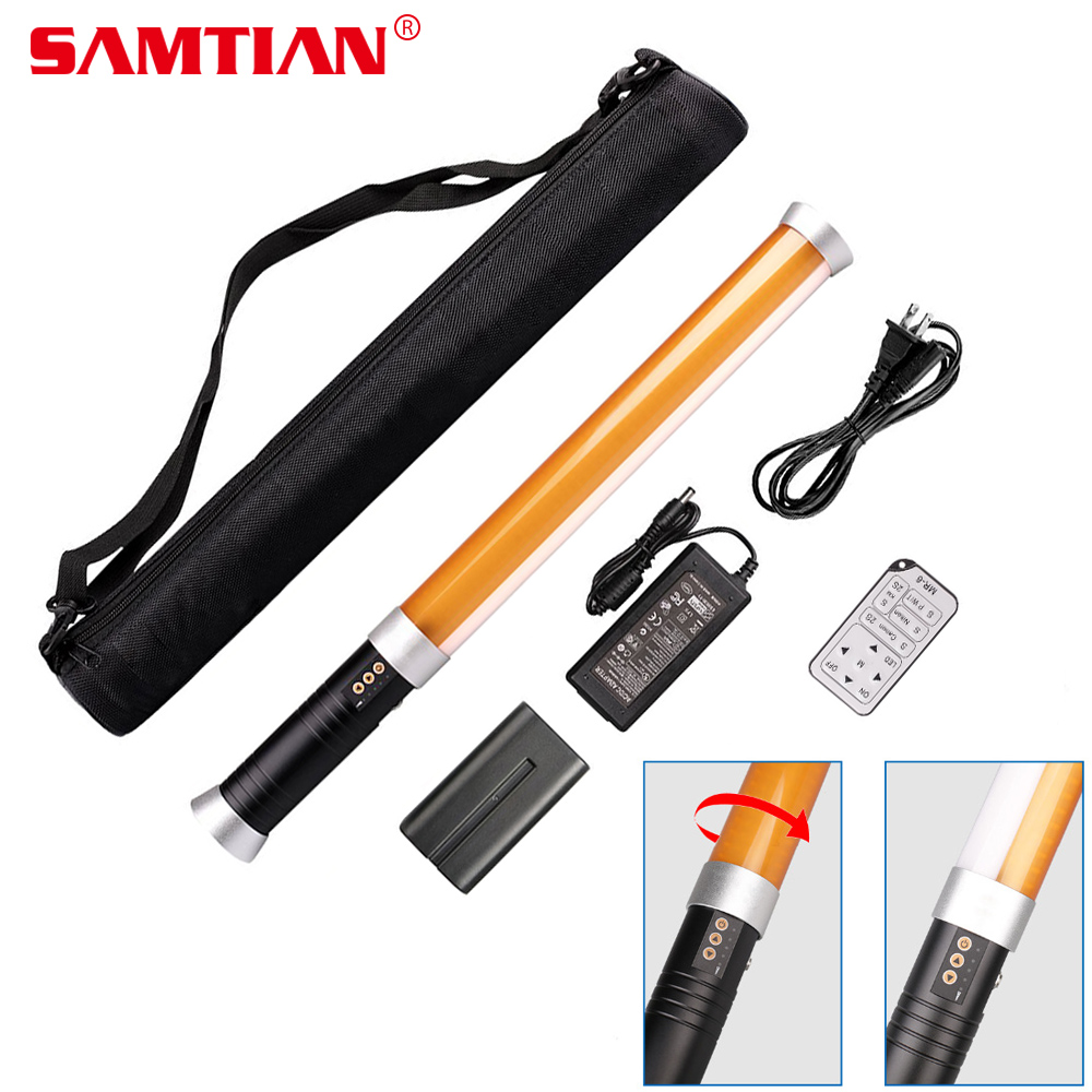 SAMTIAN MTL-900D Portable Handheld LED Video Light Magic Tube LED Lamp for Studio Camera Photography lighting 298 LED 3200K/5600